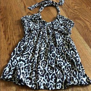 Tart leopard halter - never worn - NWOT